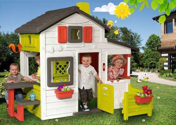 Smoby Domek Friends House z dzwonkiem i ogródkiem 310209