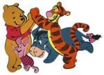 Disney Dekoracje Ścienne licencja Marko Dekoracja ścienna MARKO Kubuś z przyjaciółmi