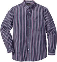 Bonprix Koszula w paski Regular Fit ciemnoniebiesko-jeżynowo-biały w paski