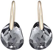 Swarovski Galet Pierced Earrings Gray Rose gold-plated