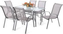 Meble ogrodowe aluminiowe Sevilla Alu Silver / Grey