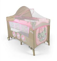 Milly Mally Mirage Deluxe, Łóżeczko turystyczne, Pink Toys