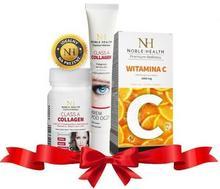 NOBLE HEALTH Noble health promocyjny zestaw Witamina C x 60 kaps + Class a collagen x 30 tabl + Class a collagen krem pod oczy 25 g | DARMOWA DOSTAWA OD 149 PLN!
