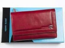 Pierre Cardin Portfel skórzany 507.7 356 czerwony 507.7 356 czerwony