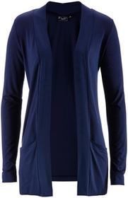 Bonprix Sweter bez zapięcia ciemnoniebieski