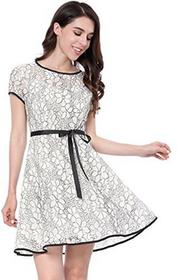 1f051f8e62 -27% Allegra K damska sukienka linia A - A-linie biały a17120600ux0409