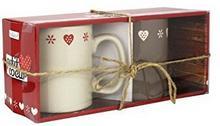 ARD 'Time Che 2maxmug jest małe serce Maxi kubek do kawy 2sztuki ceramika wielokolorowy 14x 12x 12cm
