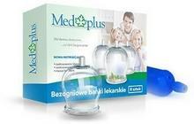 MED PLUS SP. Z O.O. MED PLUS SP Z O.O Bańki lekarskie bezogniowe z pompką 8 sztuk 9026275