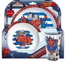 Spider-Man kuchnie-czas chleba i akcesoria w Spider-Man-wzornictwo, biały i niebieski, 20.7 x 20.7 x 11.20 cm 82845AMA