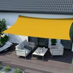 Jarolift Żagiel przeciwsłoneczny. prostokątny. z tkaniny wodoodpornej. żółty. 400x200 cm