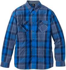 Bonprix Koszula z długim rękawem Regular Fit niebieski w kratę