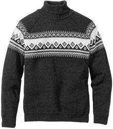 Bonprix Sweter z golfem Regular Fit antracytowy melanż