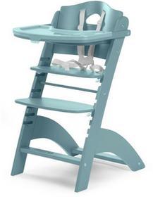 Childhome Krzesełko drewniane do karmienia dla niemowląt Lambda 2 - turkusowy - Childhome LAMBDA 2 TURKUSOWY
