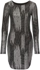 Bonprix Sukienka wieczorowa czarno-srebrny