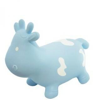 Tootiny Teddykompaniet Krówka Skoczek Niebieska z pompką w kartonie 5907630901026