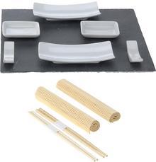 EH Excellent Houseware Zestaw do przekąsek przystawek sushi 11 elementów 210000010