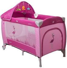 CoTo Baby Samba Lux, Łóżeczko turystyczne, Pink Flamingo
