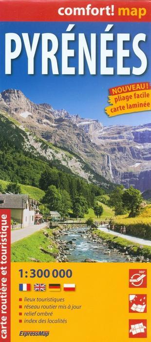 ExpressMap praca zbiorowa Pyrenees. Mapa samochodowo - turystyczna. 1:300000