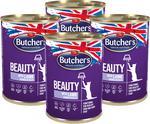Butchers Butcher's Functional Cat Beauty kawałki w galarecie z jagnięciną 400g x 4 KBUT025_PAK4
