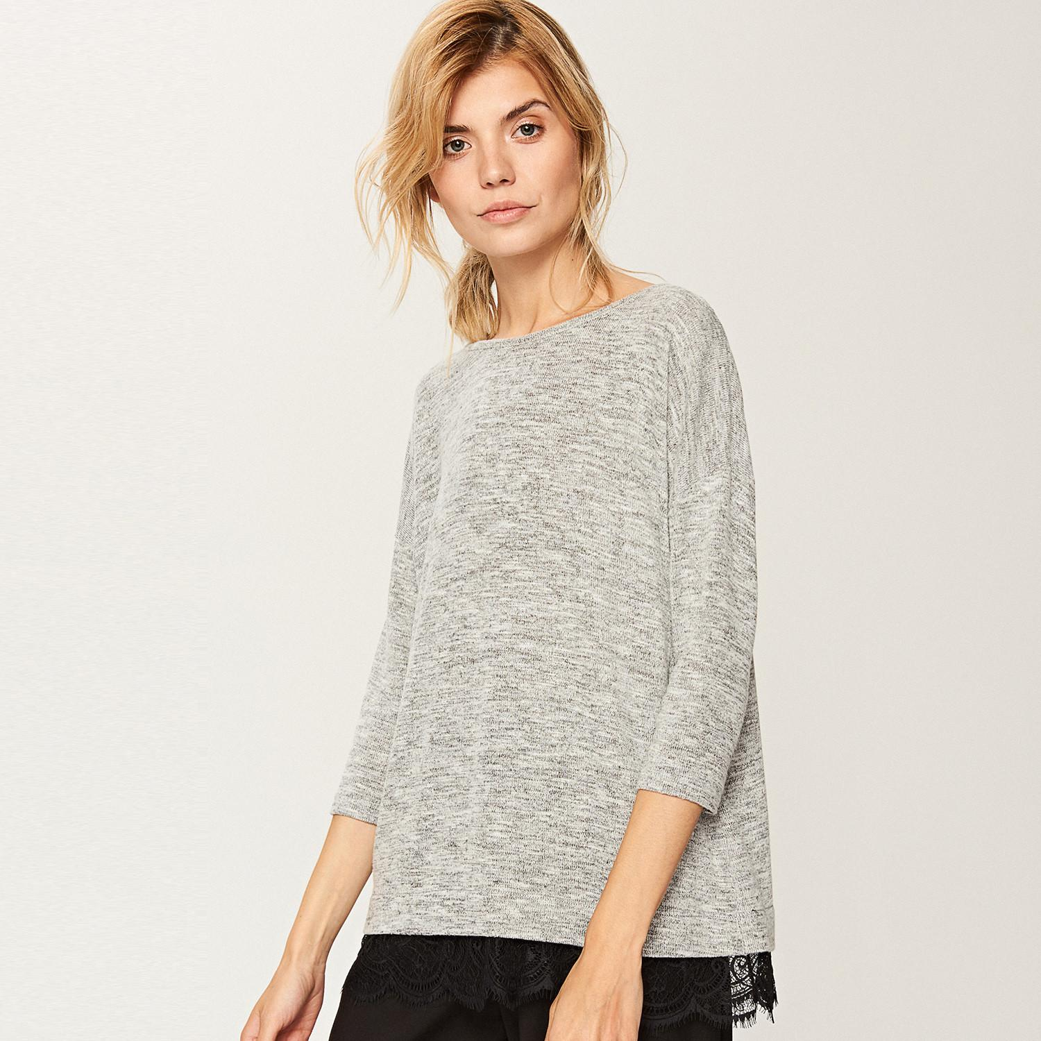 Reserved Sweter oversize - Szary