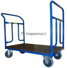 WIZ Wózki Wózek platformowy dwuburtowy. Wym. 1000x600mm (Ładowność: 300kg)