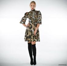 Dobromiła- szyfonowa suknia w panterkę