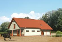 SC04 - Stajnia dla 6 koni z częścią mieszkalno-rekreacyjną i poddaszem gospodarczym