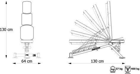 Marbo Sport Ławka dwustronnie regulowana MP-L202