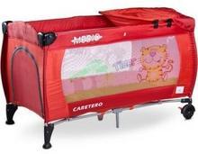 Caretero IKS 2 łóżeczko łóżeczka turystyczne Medio Safari Red