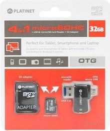 Platinet MicroSDHC 32GB + adapter