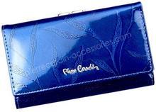 7a635b0c726c2 Pierre Cardin Portfel damski skórzany 02 LEAF 108 Niebieski - niebieski 02  LEAF 108 niebieski-