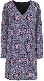 Bonprix Sukienka kobaltowo-perłowy jasnoróżowy wzorzysty