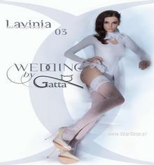 Gatta Pończochy samonośne Lavinia model 03 białe rozmiar 3-4