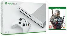 Microsoft Xbox One S 500GB Biały + Wiedźmin 3 + Kontroler