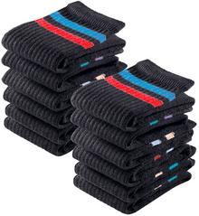 Bonprix Skarpetki sportowe GO IN (12 par) czarny w paski