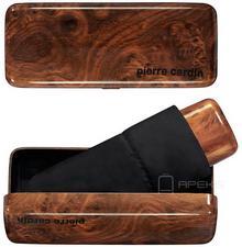 Pierre Cardin Parasol składany w etui Mybrella Carbon 83702 drewno