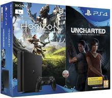 Sony PlayStation 4 Slim 1TB Czarny + Horizon Zero Dawn + Uncharted Zaginione Dziedzictwo