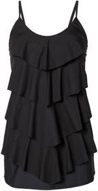 Bonprix Wyszczuplająca sukienka kąpielowa czarny
