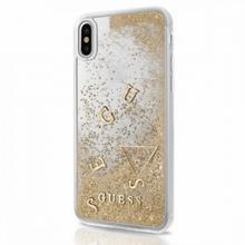 Guess Liquid Glitter - Etui iPhone X (złoty) GUHCPXGLUFLGO