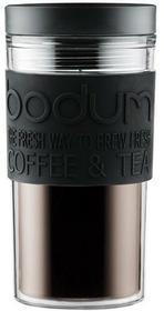 Bodum 1168401Travel Mug, 0.35L kubek podróżny z tworzywa sztucznego 8x 8x 17cm, czarna 11684-01