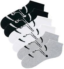 Bonprix Skarpetki stopki Chiemsee (6 par) czarny + biały + szary melanż