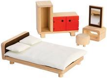 Plan Toys SYPIALNIA drewniane mebelki dla lalek PT 7349