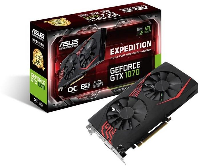 Asus GeForce GTX 1070 Expedition OC (90YV09T6-M0NA00)
