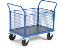 AJ Wózek platformowy 4 boki z siatki 1165x700 mm z hamulcami 739910