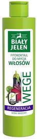 Pollena Biały Jeleń Wege Fitokoktajl do mycia włosów regenerujący Burak i Bakłażan 250ml