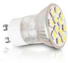 Whitenergy Żarówka LED 2W GU10 biała zimna 12SMD 5050 MR11 230V 08896