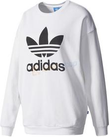 bluza adidas originals trefoil biała