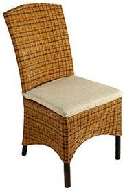 - Krzesło z zatyczki na nóżki z mosiądzu Matt poduszka z rattanu siedzisko na krzesło