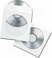 Gembird Koperty z okienkiem CD/DVD papier. 100 szt. op. folia