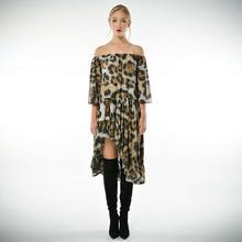 Carmen Patria - szyfonowa sukienka w panterkę